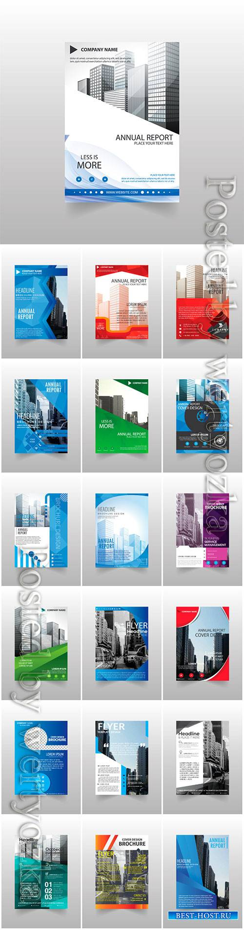 Vector brochures, flyer templates