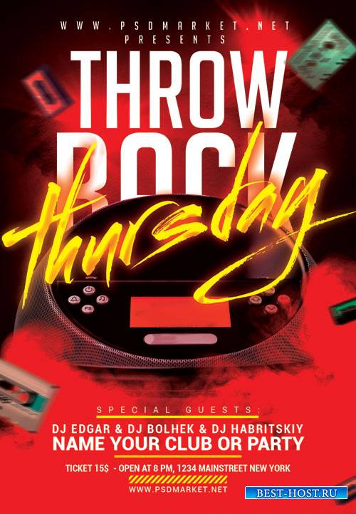 Throw back thursday - Premium flyer psd template