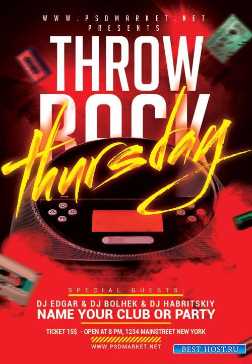 Throw back thursday - Premium flyer psd template