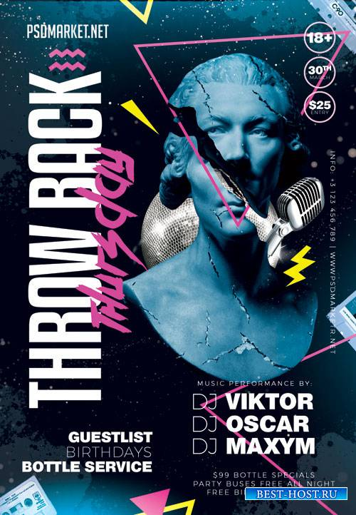 Throwback thursday - Premium flyer psd template
