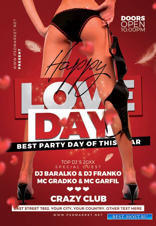 Love day sexy party - Premium flyer psd template