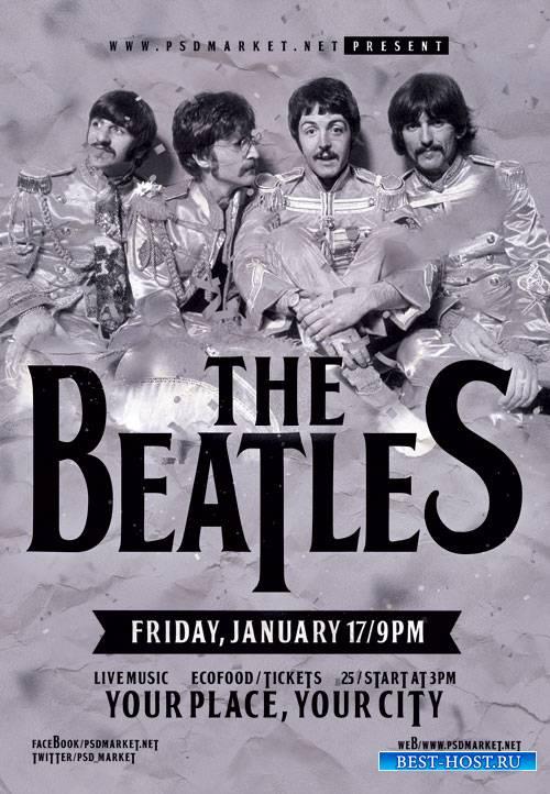 Beatles event - Premium flyer psd template