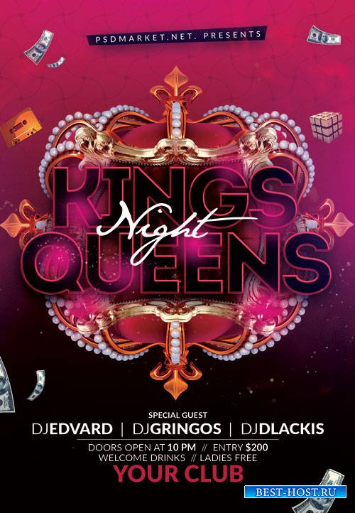 Kings queens night - Premium flyer psd template