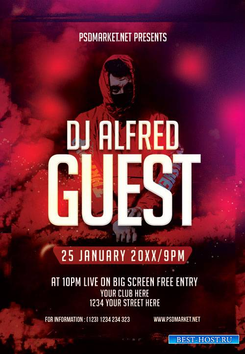 Dj event night - Premium flyer psd template