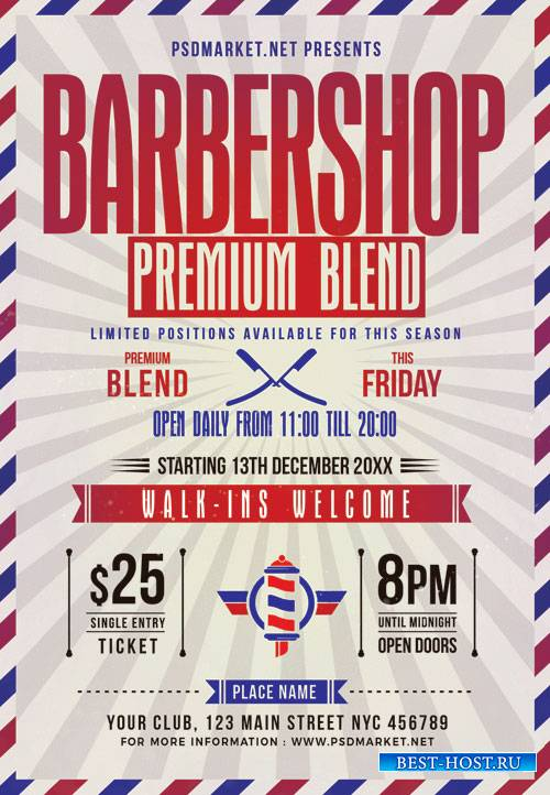 Barbershop - Premium flyer psd template