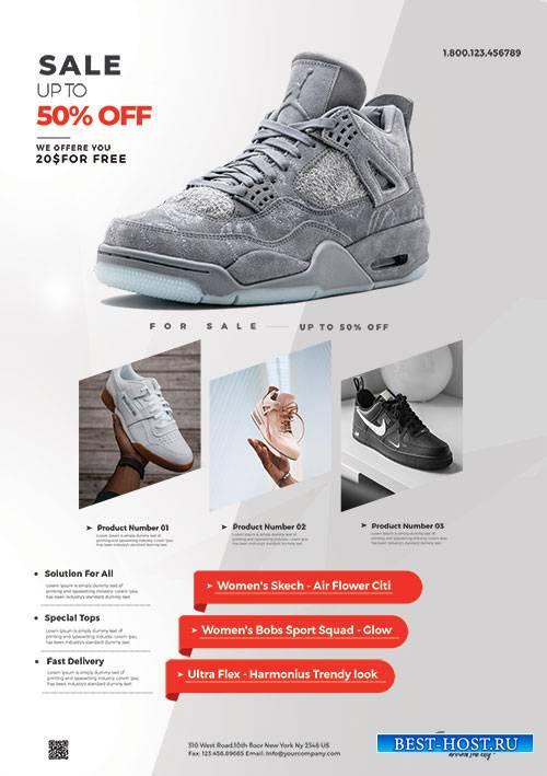 Shoe Sale  - Premium flyer psd template