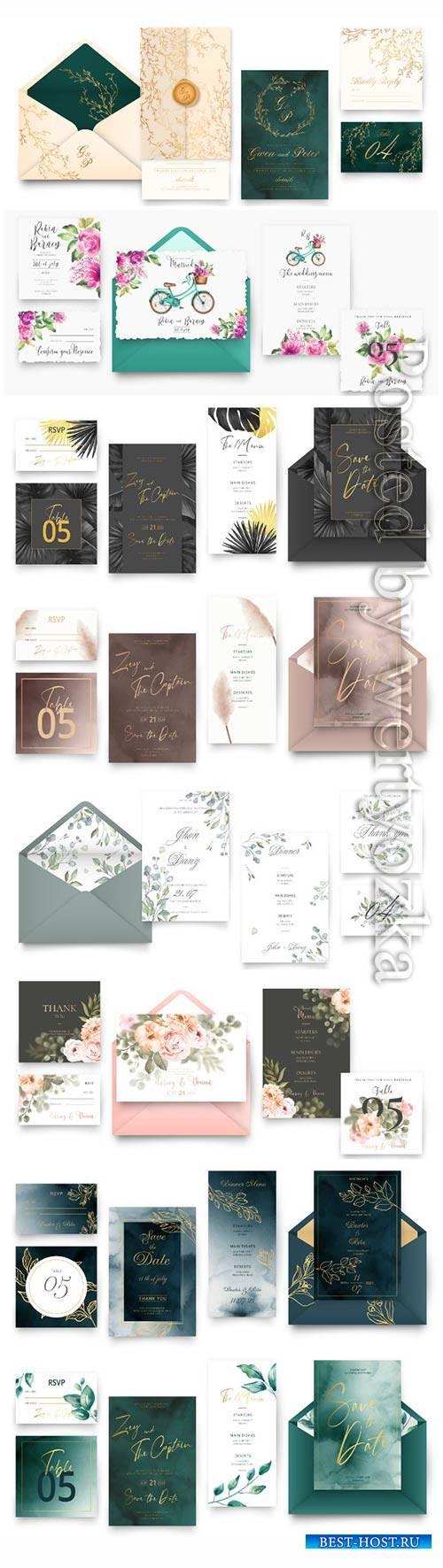 Elegant wedding vector set