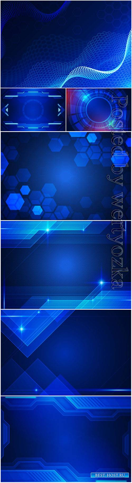 Modernistic tech vector background