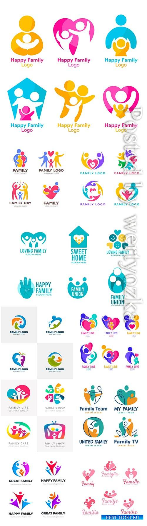 Family logo vector collection