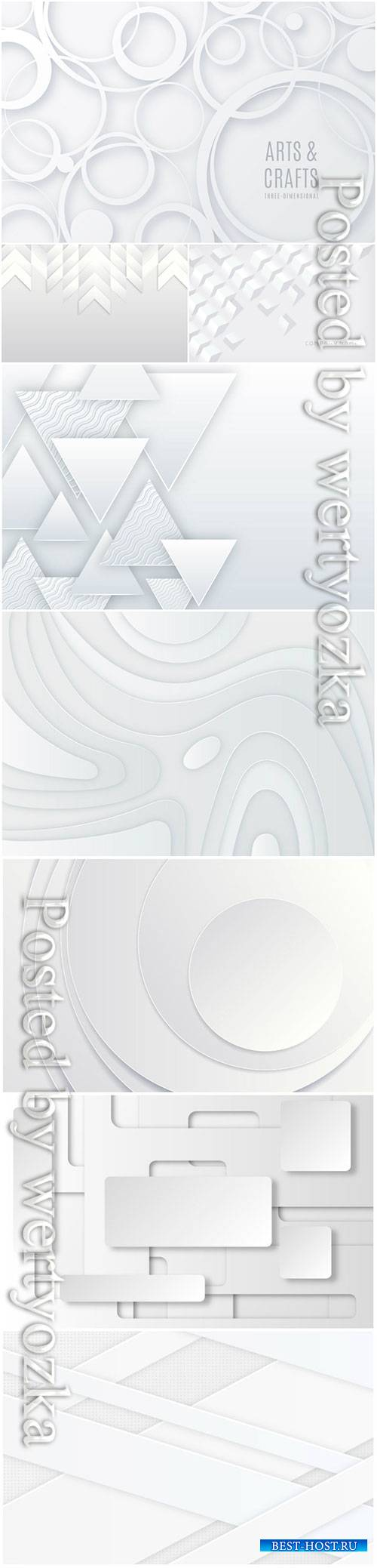 White 3d vector abstract background