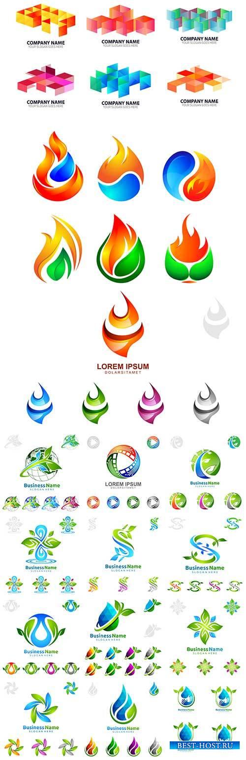 Экологические иконки в векторе