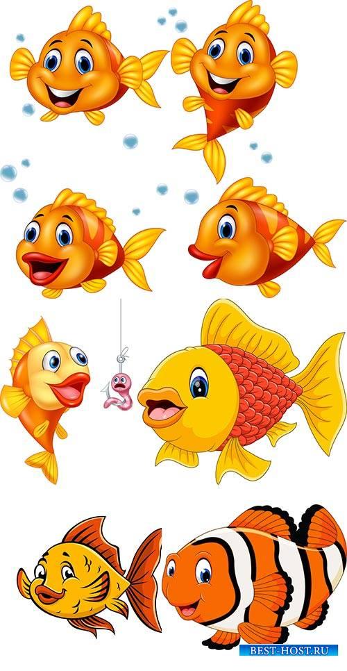 Золотая рыбка - Векторный клипарт