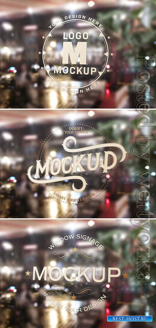 Window Signage Text Effect Mockup