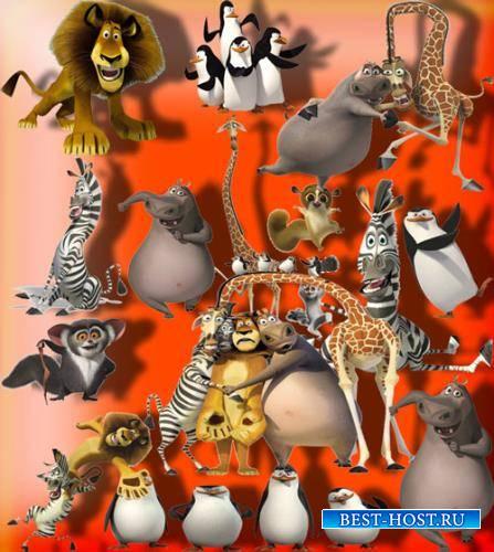 Клипарты для фотошопа - Мадагаскар