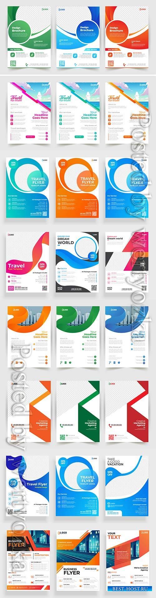 Business vector flyer template design