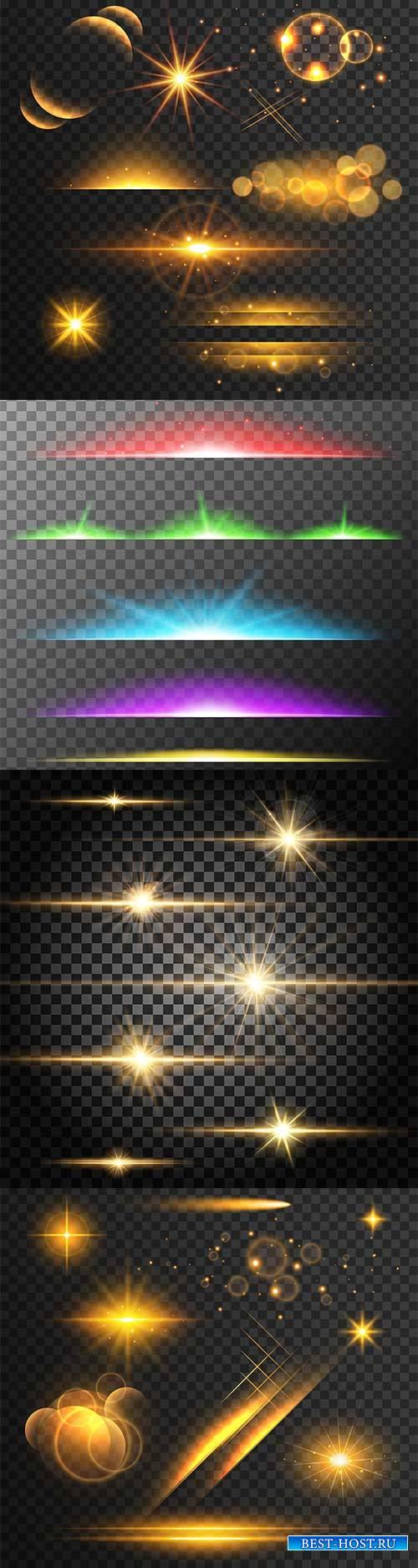 Световые эффекты - Векторный клипарт
