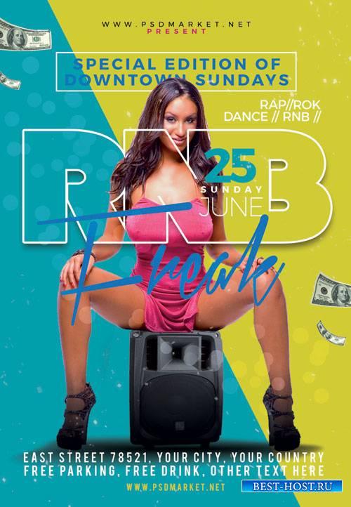 Rnb freak - Premium flyer psd template