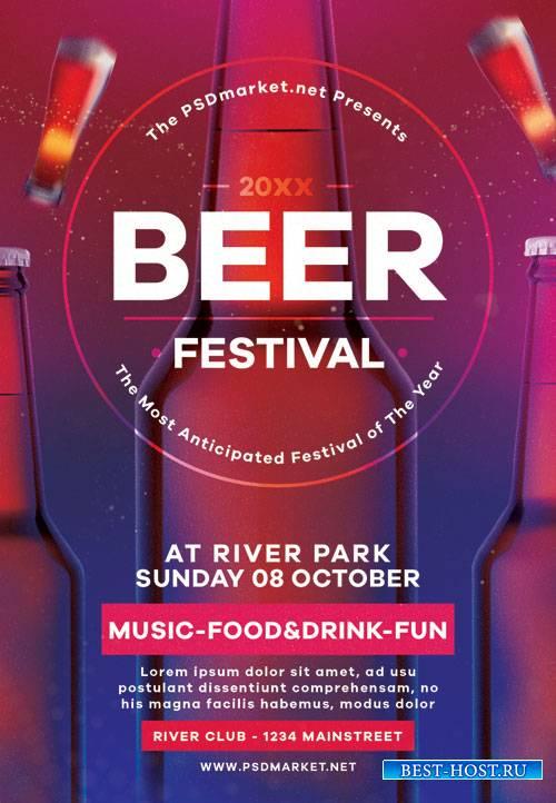 Beer festival - Premium flyer psd template
