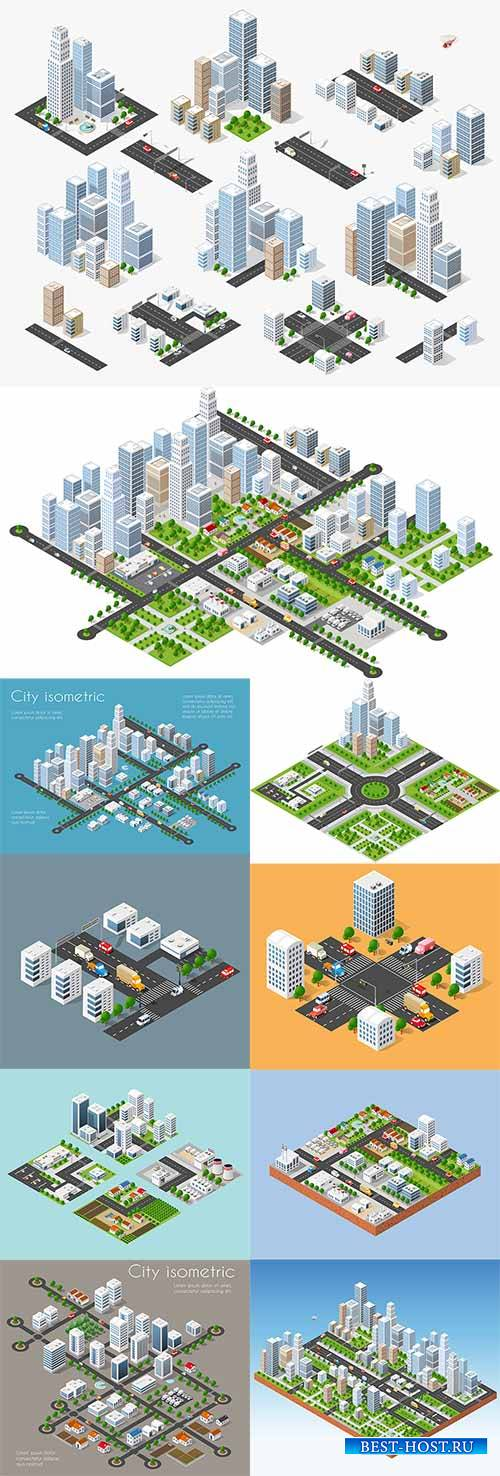 Megapolis 3d isometric - Vector Graphics