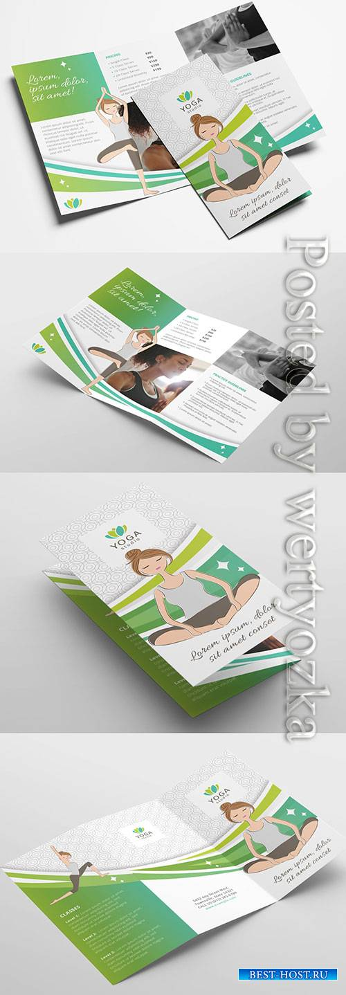 Yoga Studio Brochure Layout