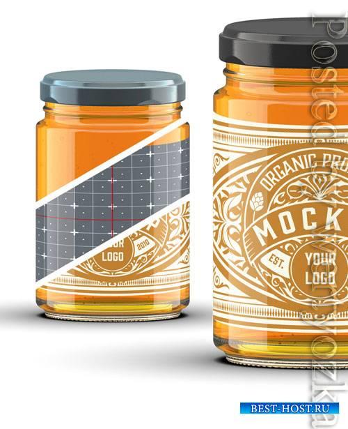 Cylindrical Honey Jar Mockup 322842168