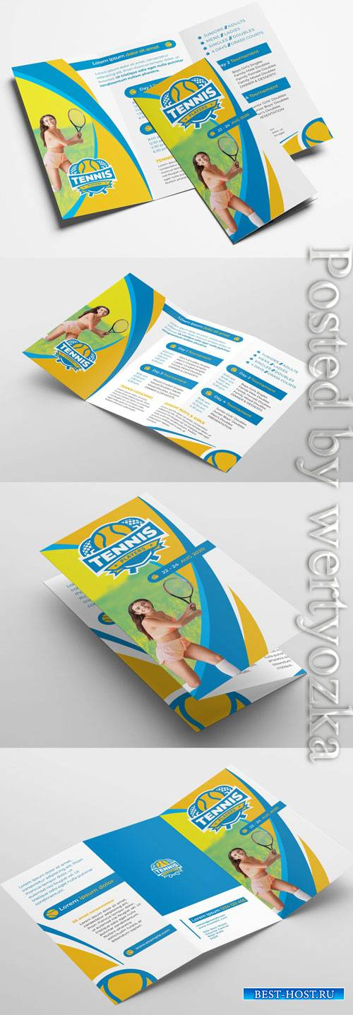 Tennis Club Trifold Brochure Layout