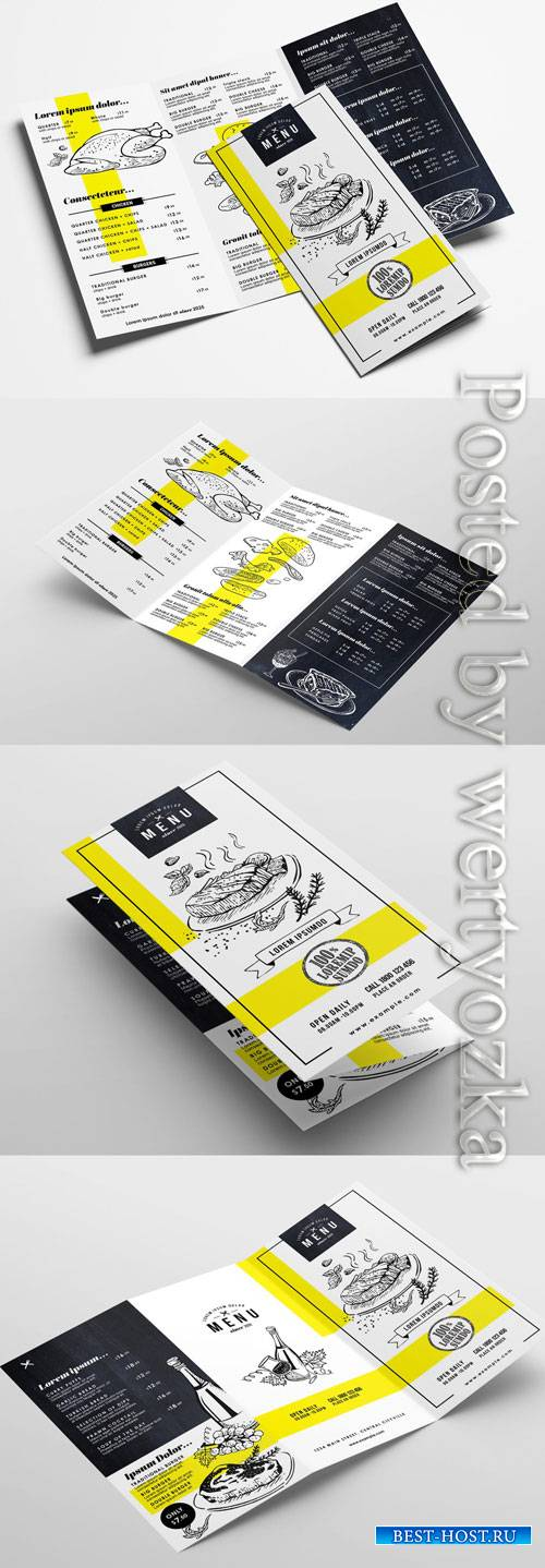 Trifold Menu Layout