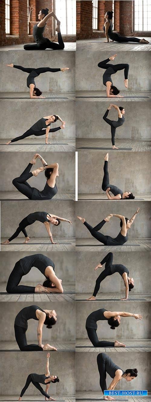 Девушка гимнастка - Растровый клипарт