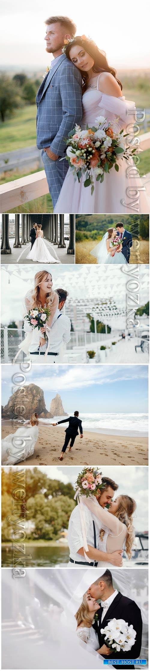 Bride and groom, wedding concept