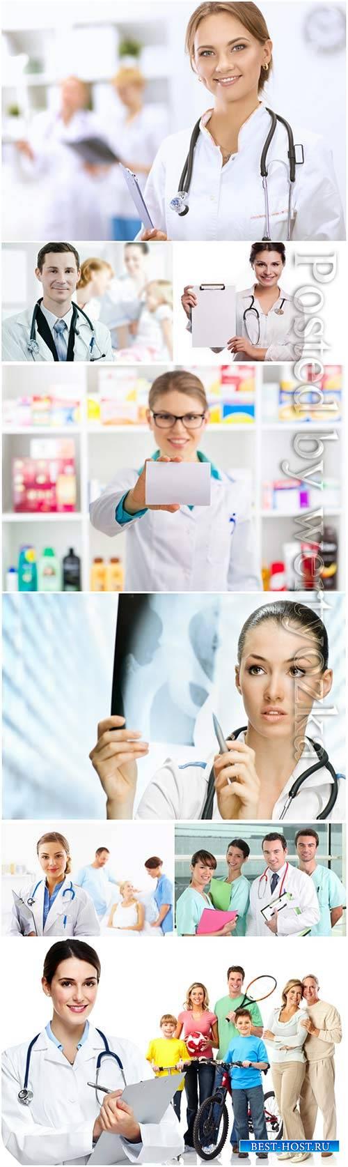 Friendly doctors, medicine concept
