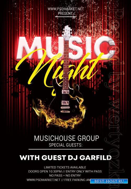 Music night - Premium flyer psd template