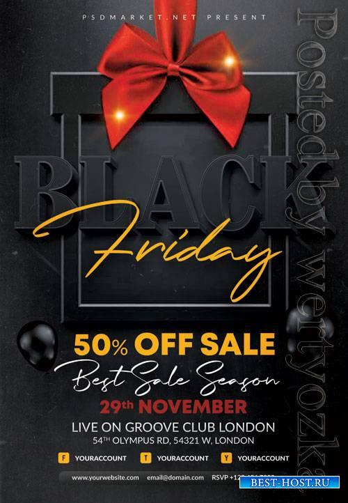Black friday event - Premium flyer psd template