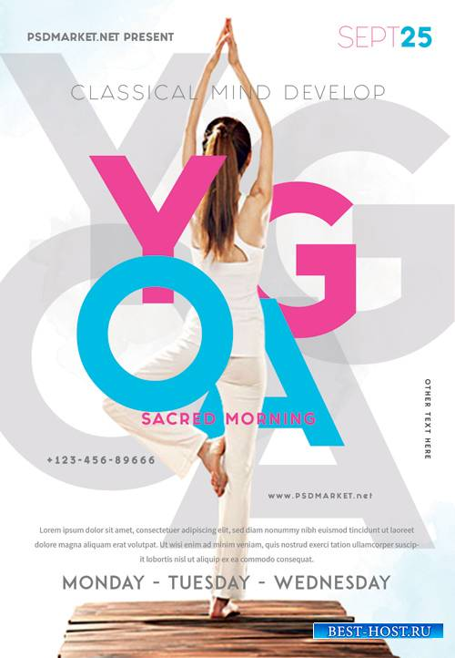 Yoga event - Premium flyer psd template
