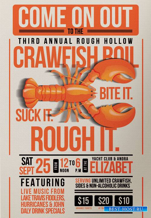 Crawfish fest - Premium flyer psd template