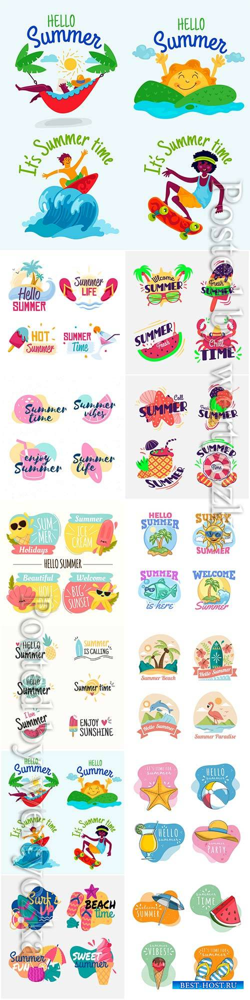 Summer labels collection # 5