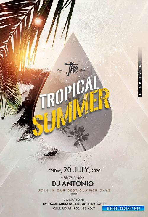 Tropical Beach - Premium flyer psd template