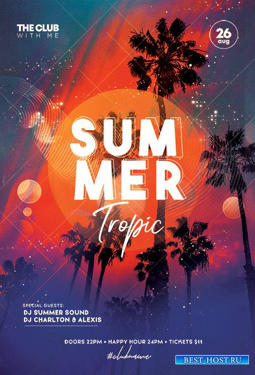 Tropic Party Summer - Premium flyer psd template