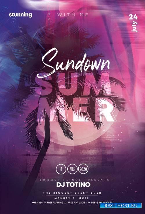 Sundown Summer Event - Premium flyer psd template