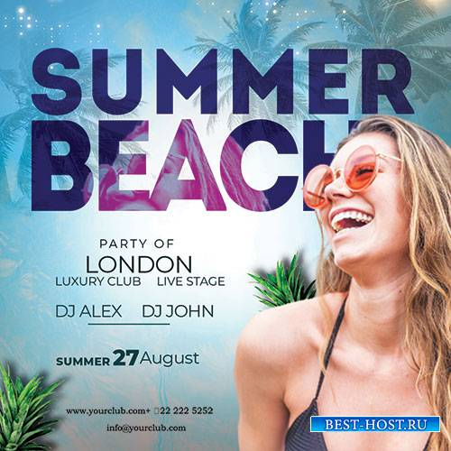 Summer Time - Premium flyer psd template