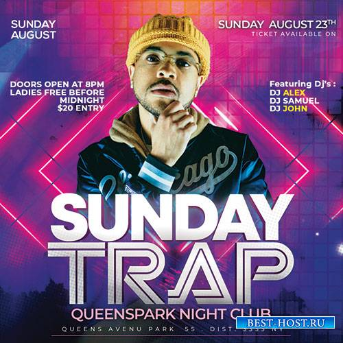 Dj Sunday Club - Premium flyer psd template