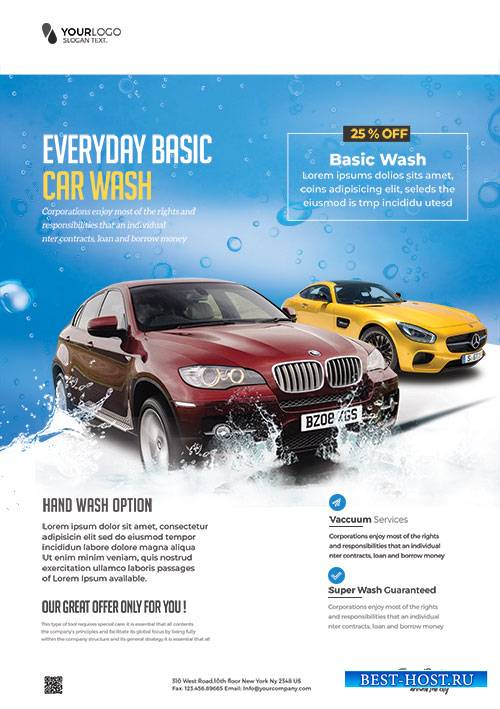 Car Wash - Premium flyer psd template