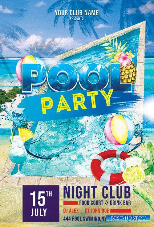 Pool Party - Premium flyer psd template
