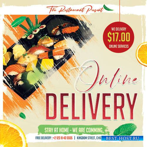 Online Delivery - Premium flyer psd template