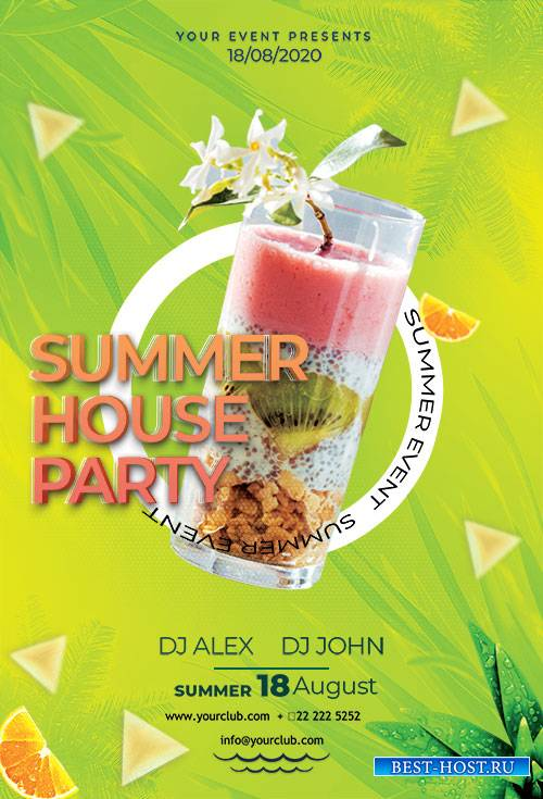 Summer House Party - Premium flyer psd template