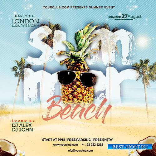 Summer Beach Party - Premium flyer psd template