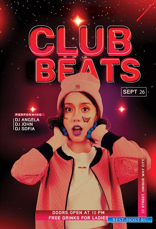 Club Beats - Premium flyer psd template