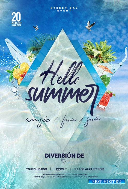 Beyond The Sea Summer -  Premium flyer psd template