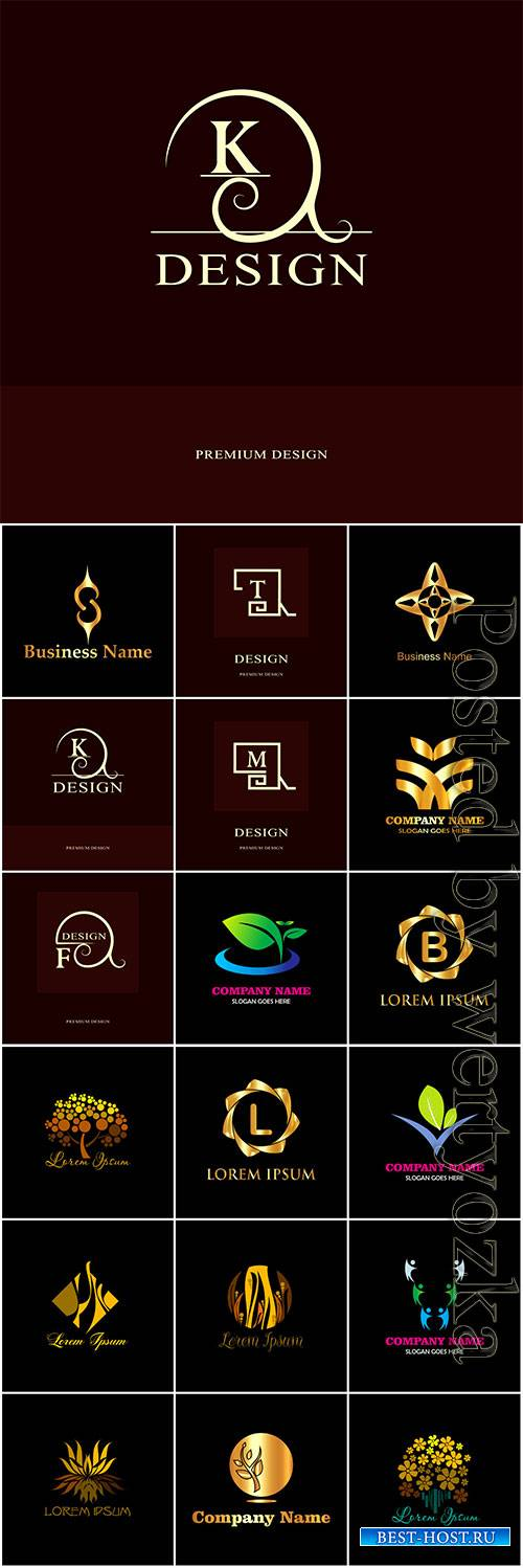 Logos collection in vector, business name for company # 5