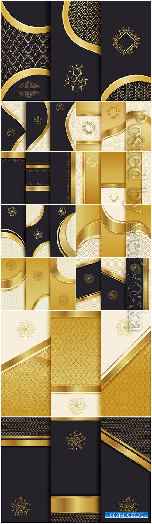 Luxury backgrounds for packaging, vector templates