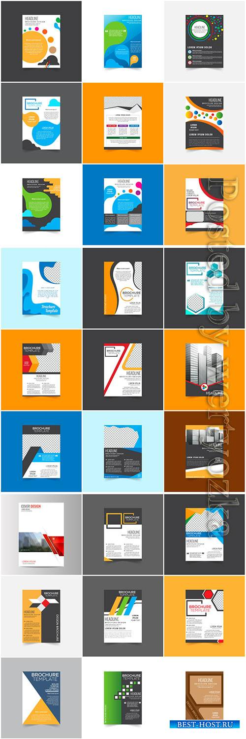 Brochures collection in vector, business name for company # 4